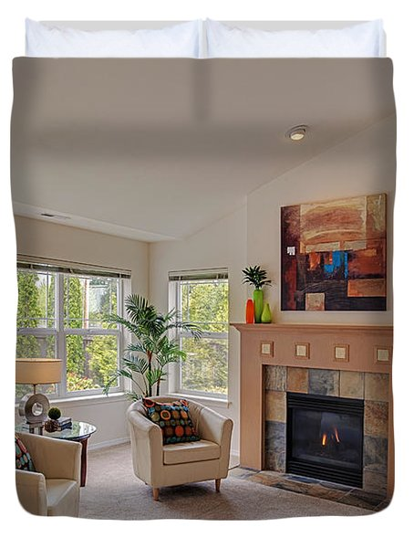 Living Room Real Estate Photography Duvet Cover