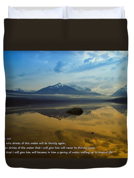 Living Water Duvet Cover by Jeff Swan