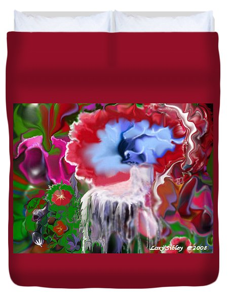 Duvet Cover featuring the digital art Living Water by Loxi Sibley