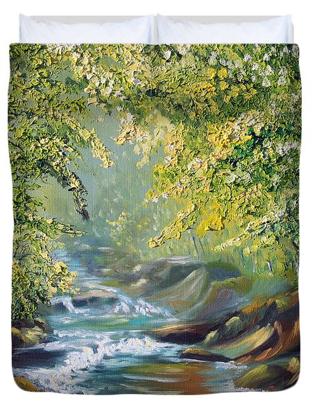 Living Water Duvet Cover by Meaghan Troup