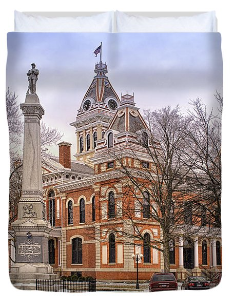 Livingston County Courthouse 06 Pontiac Il Duvet Cover by Thomas Woolworth