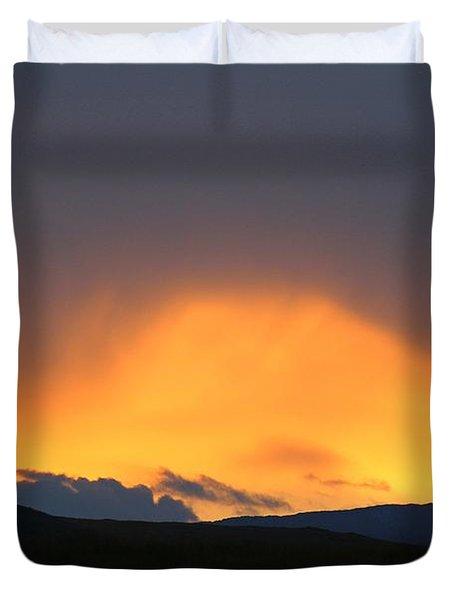 Livingstone Range Sunset Duvet Cover