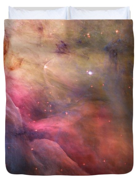 Ll Ori And The Orion Nebula Duvet Cover by Movie Poster Prints