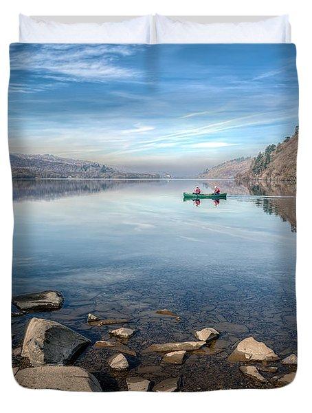 Llanberis Lake Duvet Cover by Adrian Evans