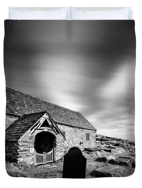 Llangelynnin Church Duvet Cover by Dave Bowman