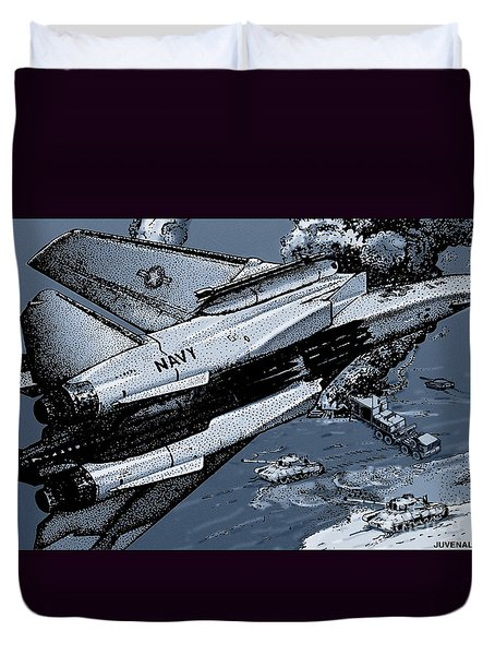 Loaded For Tank Duvet Cover by Joseph Juvenal