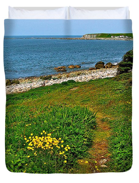 Lobster Cove From Green Point Coastal Trail In Gros Morne Np-nl Duvet Cover