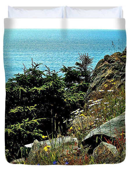 Lobster Cove Head In Gros Morne Np-nl Duvet Cover