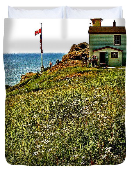 Lobster Cove Head Lighthouse In Gros Morne Np-nl Duvet Cover