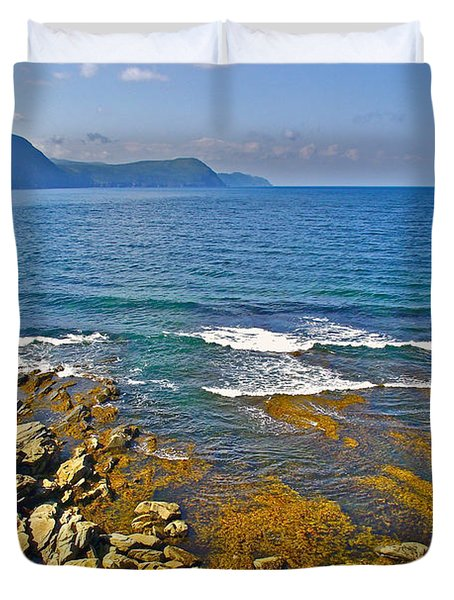 Lobster Cove In Rocky Harbour-nl Duvet Cover