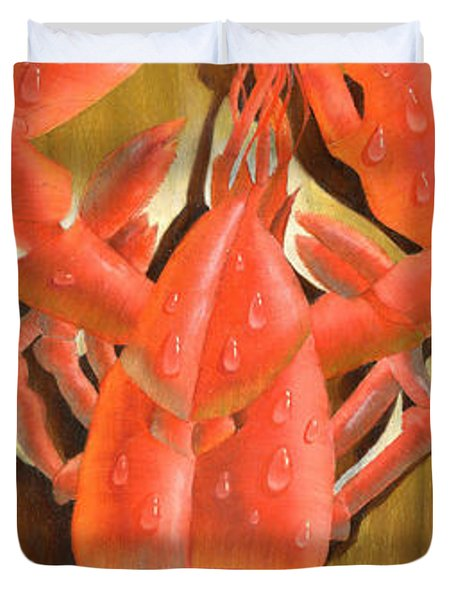 Lobster On A Plank Duvet Cover