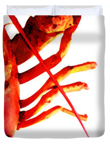 Lobster - The Right Side Duvet Cover by Sharon Cummings
