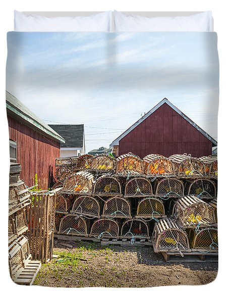 Lobster Traps In North Rustico Duvet Cover