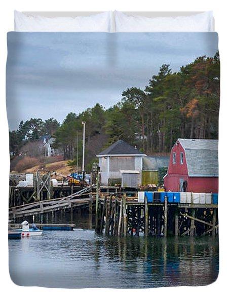 Lobstering Duvet Cover by Guy Whiteley