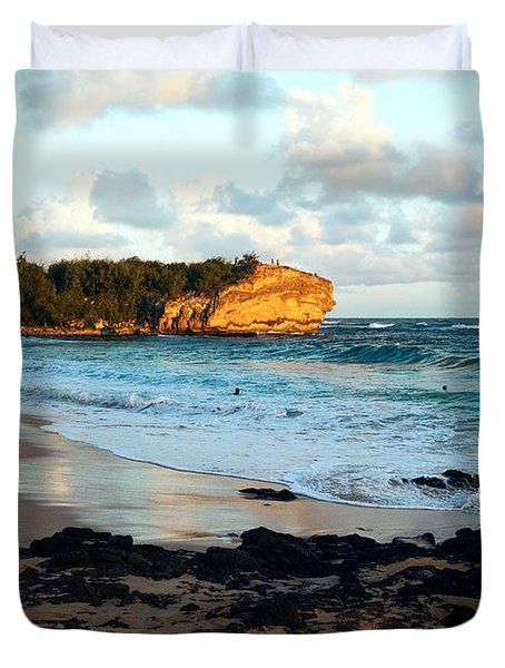 Local Surf Spot Kauai Duvet Cover