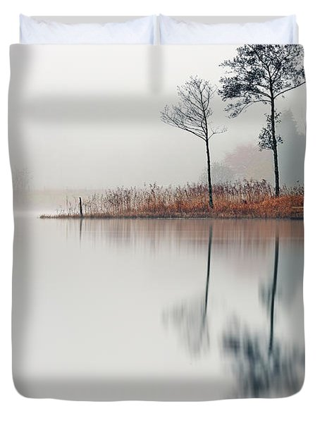 Loch Ard Reflections Duvet Cover