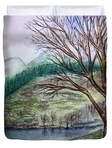 Loch Ard Stirling Overlooking Loch A'ghleannain Duvet Cover