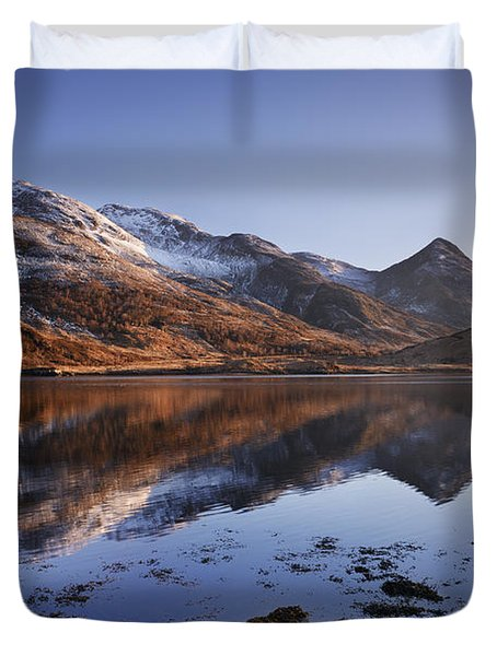 Loch Leven And The Pap Of Glencoe Duvet Cover