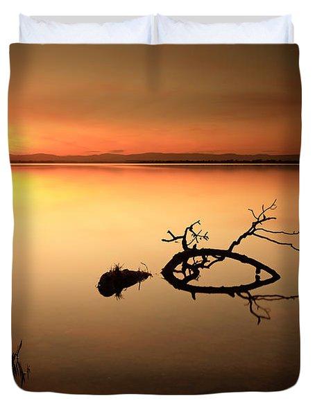 Loch Leven Sunset Duvet Cover