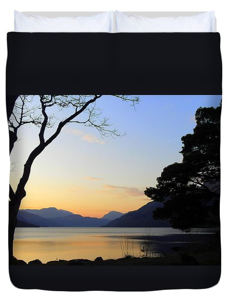 Loch Lomond Sunset Duvet Cover by The Creative Minds Art and Photography