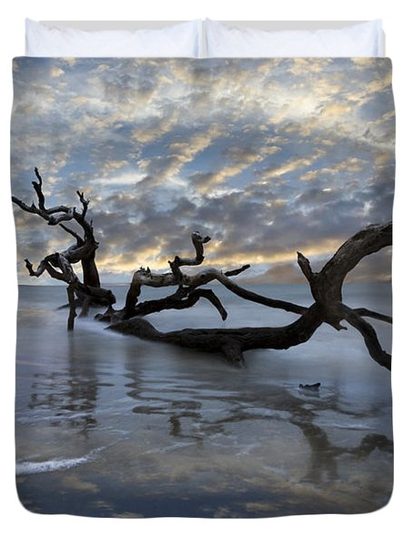 Loch Ness Duvet Cover by Debra and Dave Vanderlaan