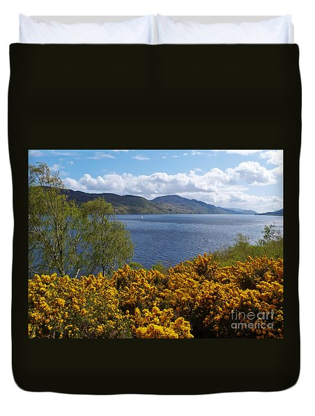 Duvet Cover featuring the photograph Loch Ness - Springtime by Phil Banks