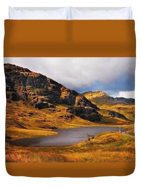 Loch Restil. Rest And Be Thankful. Scotland Duvet Cover by Jenny Rainbow