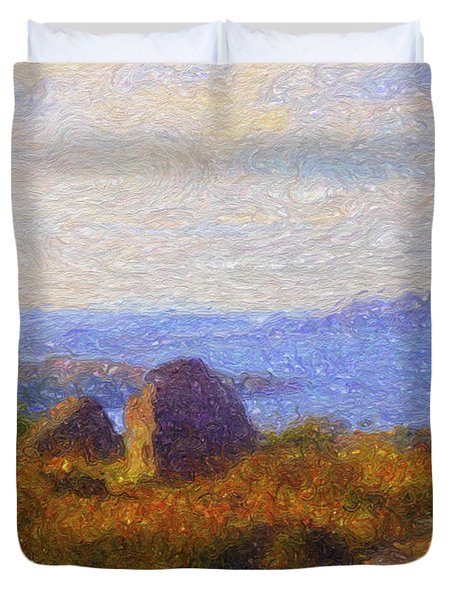 Loch View Duvet Cover by Diane Macdonald