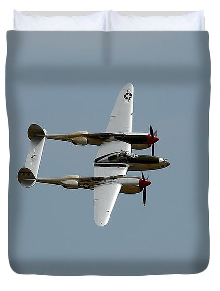 Lockheed P 38 Lightning Duvet Cover