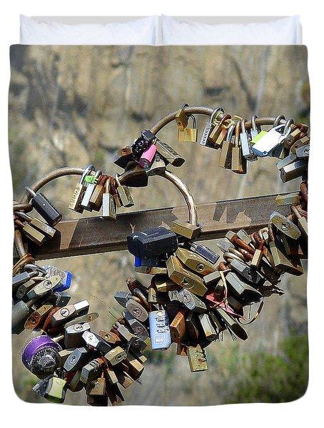 Locks Of Love Duvet Cover by Ramona Johnston