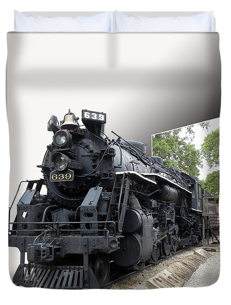 Locomotive 639 Type 2 8 2 Out Of Bounds Duvet Cover by Thomas Woolworth