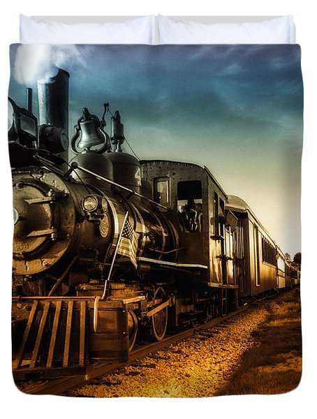 Locomotive Number 4 Duvet Cover