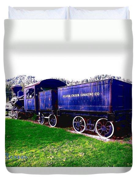 Locomotive Steam Engine Duvet Cover