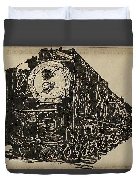 Locomotive Study Duvet Cover