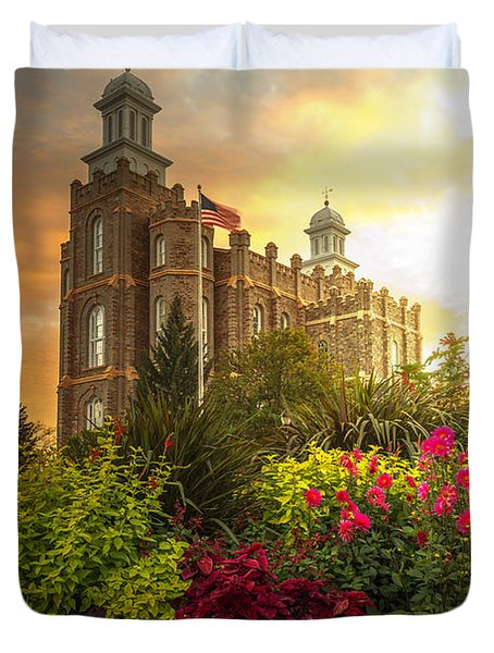 Logan Temple Garden Duvet Cover
