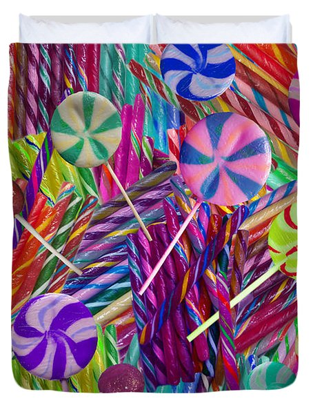 Lolly Pop Twists Duvet Cover by Alixandra Mullins