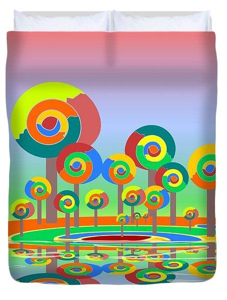 Lollypop Island Duvet Cover by Anastasiya Malakhova