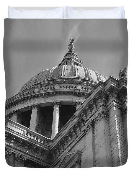 London St Pauls Cathedral Duvet Cover by Cheryl Miller