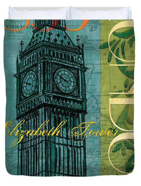London 1859 Duvet Cover by Debbie DeWitt