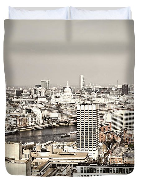 London Cityscape Duvet Cover by Elena Elisseeva