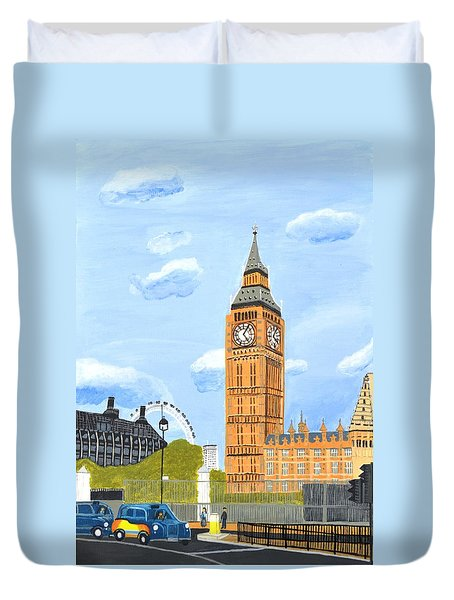 London England Big Ben  Duvet Cover