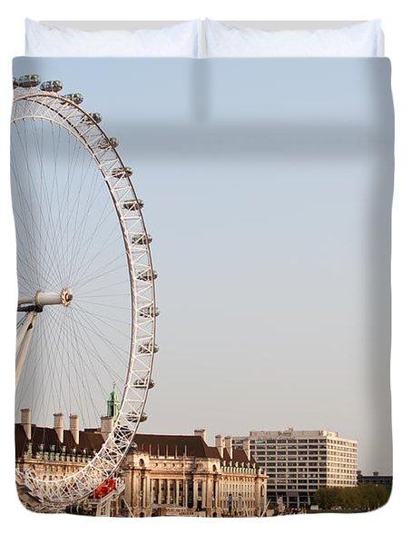 Duvet Cover featuring the photograph London Eye Day by Matt Malloy