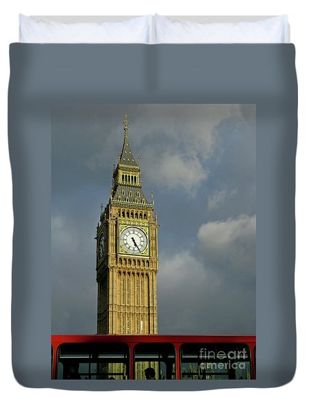 Duvet Cover featuring the photograph London Icons by Ann Horn