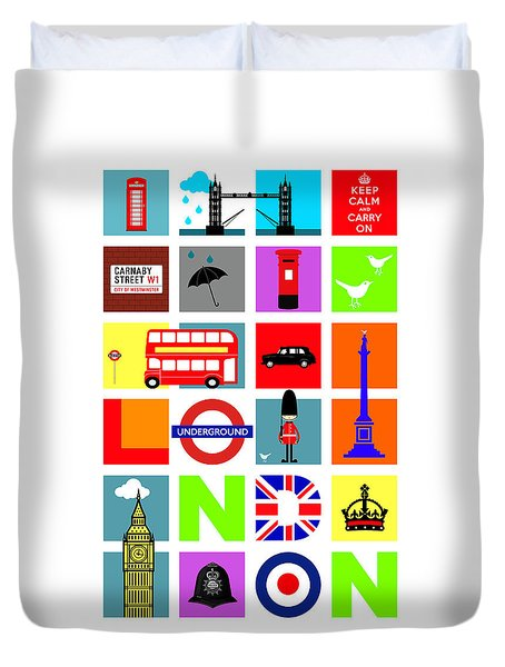 London Duvet Cover by Mark Rogan