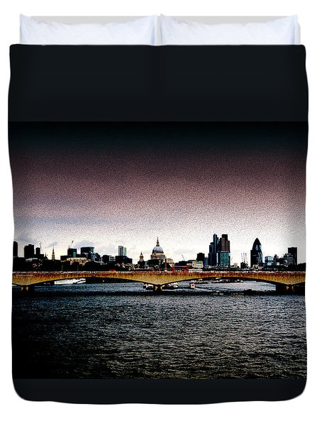 London Over The Waterloo Bridge Duvet Cover by RicardMN Photography