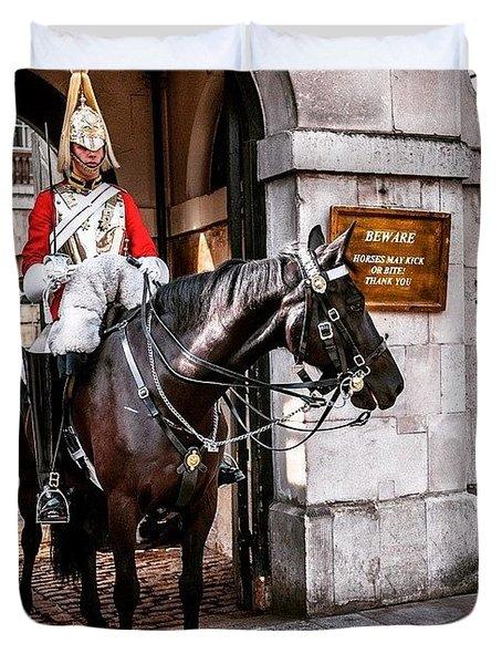 London, Palace Guard Duvet Cover