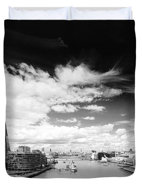 Duvet Cover featuring the photograph London Panorama by Chevy Fleet
