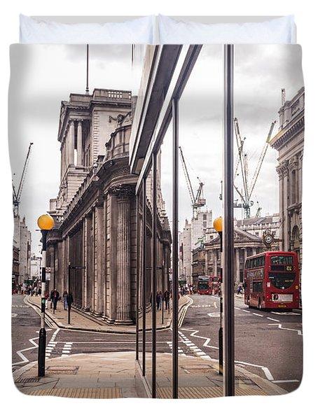 London Reflected Duvet Cover by Matt Malloy