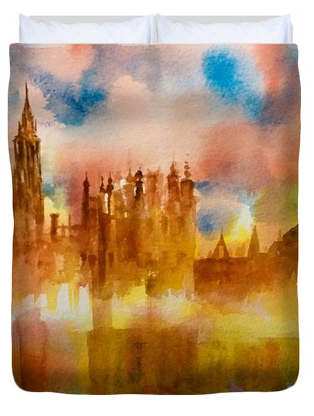 London Rising Duvet Cover