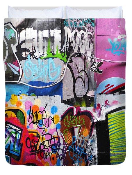 London Skate Park Abstract Duvet Cover